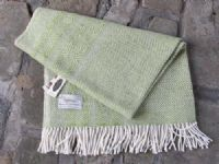 Studio Donegal Tweed Throw Green